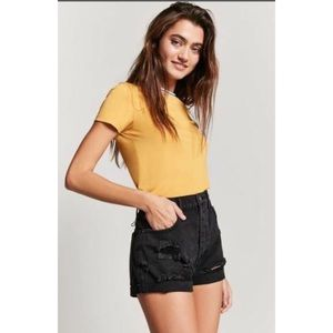 Forever21 NWT High Waisted Distressed Denim Short